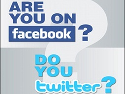 Follow us on twitter or facebook